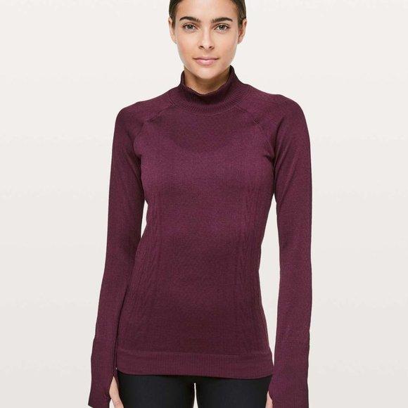 Lululemon Rest Less Mock Pullover Top Size 4 Adobe